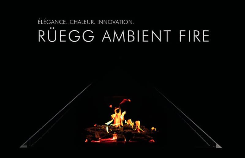 Cheminée élégante et innovante par Ruegg - ambient fire